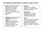 differences between science and ethics1