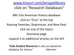 www tinyurl com lenapelibrary click on research databases