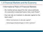 1 3 financial markets and the economy