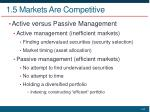 1 5 markets are competitive3