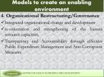 models to create an enabling environment