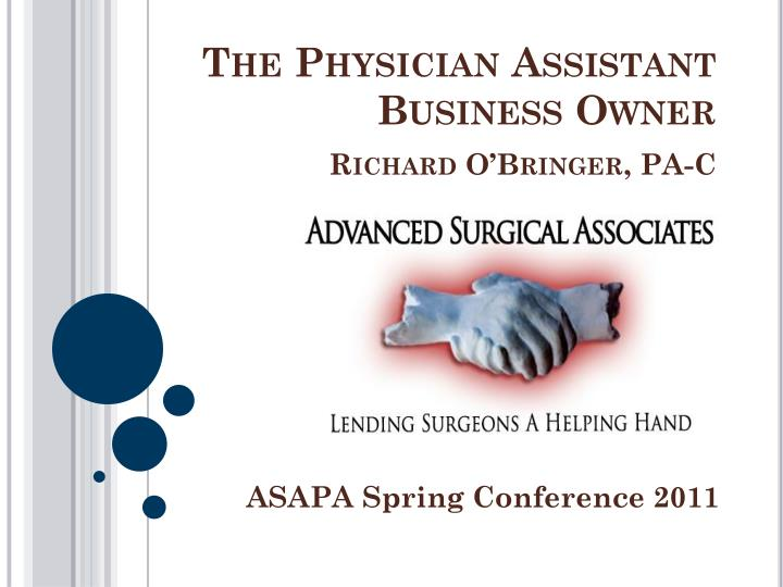 the physician assistant business owner richard o bringer pa c n.
