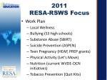 2011 resa rsws focus