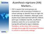 acanthosis nigricans an markers