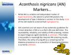 acanthosis nigricans an markers1