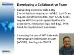 developing a collaborative team