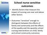 school nurse sensitive outcomes