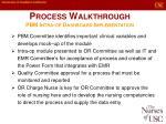 process walkthrough pbm intra op dashboard implementation
