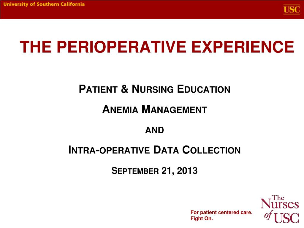 PPT - The Perioperative Experience PowerPoint Presentation