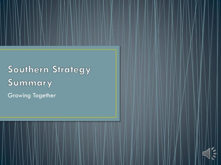 southern strategy summary n.
