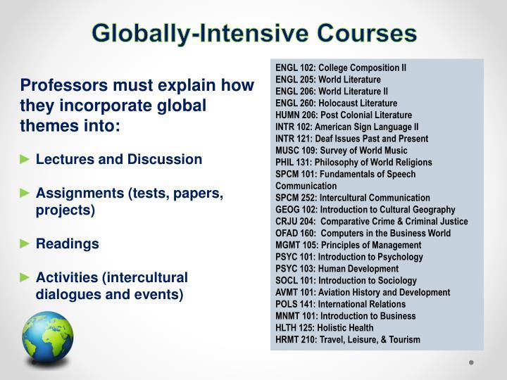 Globally-Intense Courses