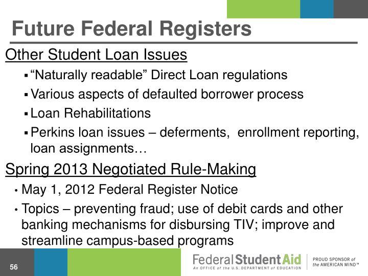 Future Federal Registers