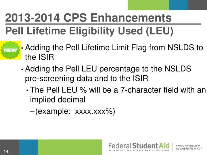 2013-2014 CPS Enhancements