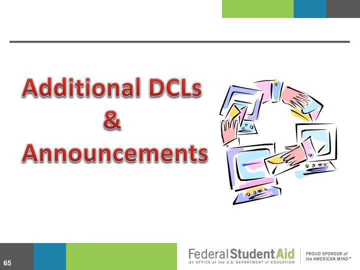 Additional DCLs