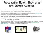presentation books brochures and sample supplies