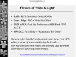 flavors of hide light