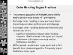 order matching engine practices