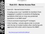 rule 610 market access rule