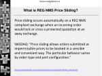 what is reg nms price sliding