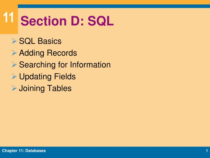 section d sql n.