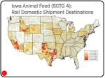 iowa animal feed sctg 4 rail domestic shipment destinations