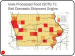 iowa processed food sctg 7 rail domestic shipment origins
