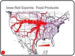 iowa rail exports food products
