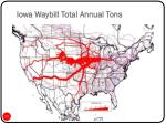 iowa waybill total annual tons