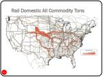 rail domestic all commodity tons