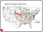 rail domestic coal tons