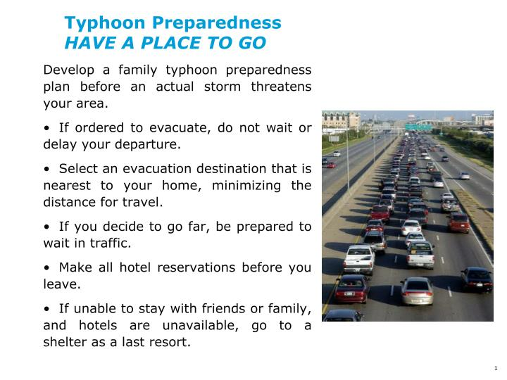 typhoon preparedness have a place to go n.