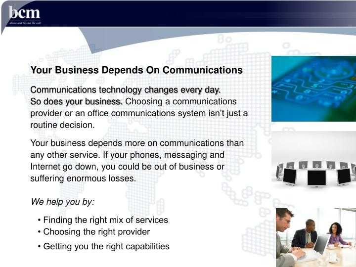 Your Business Depends On Communications