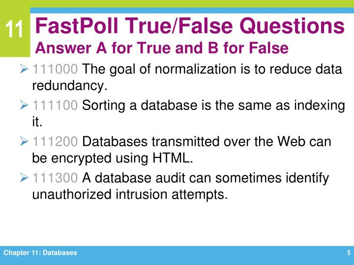 database true false questions for unit 3 Tables are set up to contain columns and rows of information in a database table, the columns are called _____.