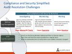 compliance and security simplified audit resolution challenges