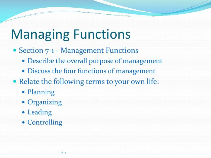 paper defines functions management planning organizing lea Without a constant evolution of these functions: planning, organizing,  5 pages functions of management paper  our text defines planning as the management.