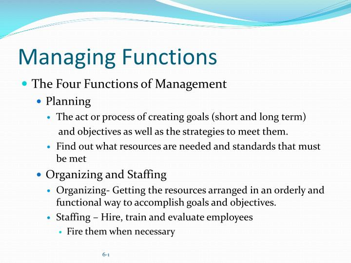 the 4 functions of management
