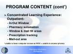 program content cont
