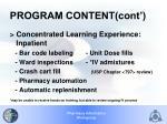 program content cont1