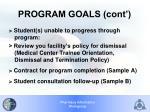 program goals cont
