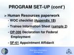 program set up cont1