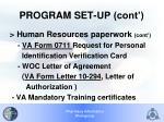 program set up cont2