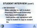student interview cont1