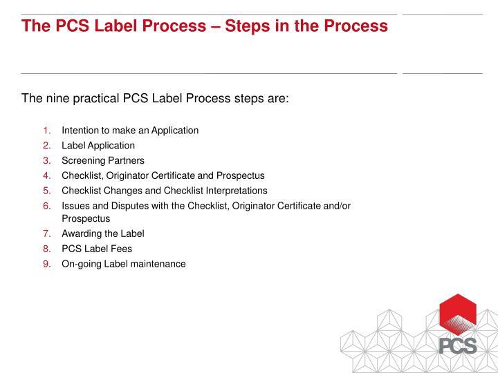 The nine practical PCS