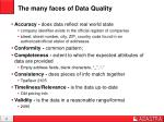the many faces of data quality