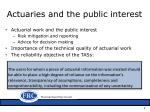 actuaries and the public interest