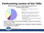 forthcoming review of the tass