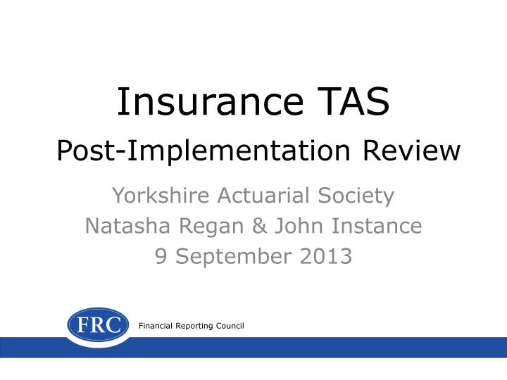 insurance tas post implementation review n.