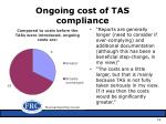 ongoing cost of tas compliance