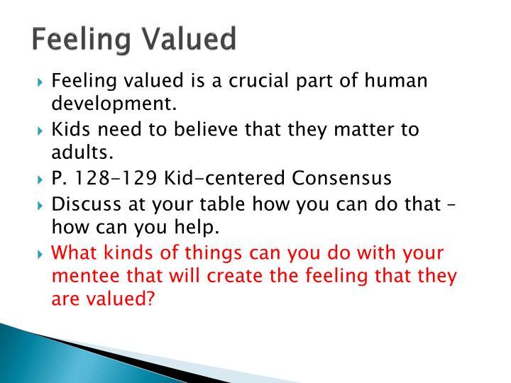 Feeling Valued