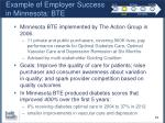 example of employer success in minnesota bte